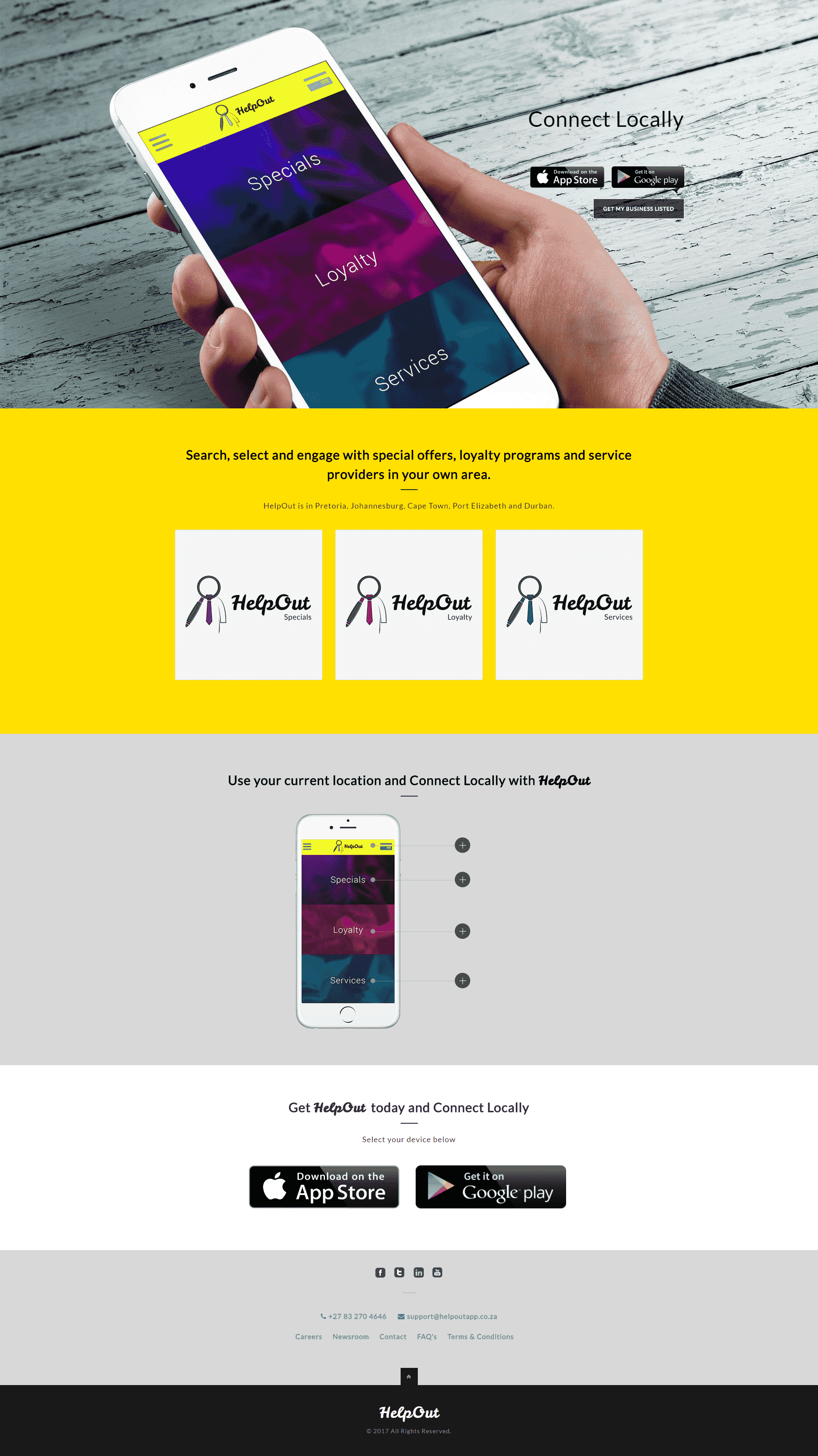Helpout App  - Designed by Marie Mbenoun